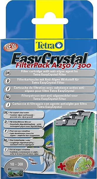 Tetra EasyCrystal Filter A250/300 Cartucho de filtro con anti-algae agente algostop, 10-30L, Pack de 3: Amazon.es: Productos para mascotas