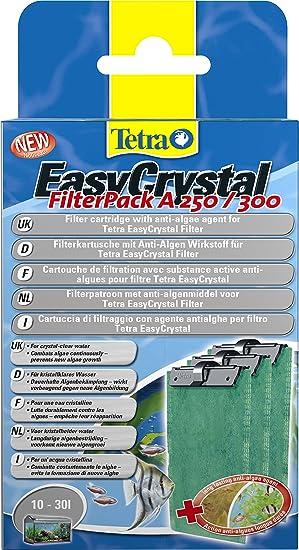 Tetra 243026 EasyCrystal un 250/300 cartucho de filtro con anti-algae agente algostop