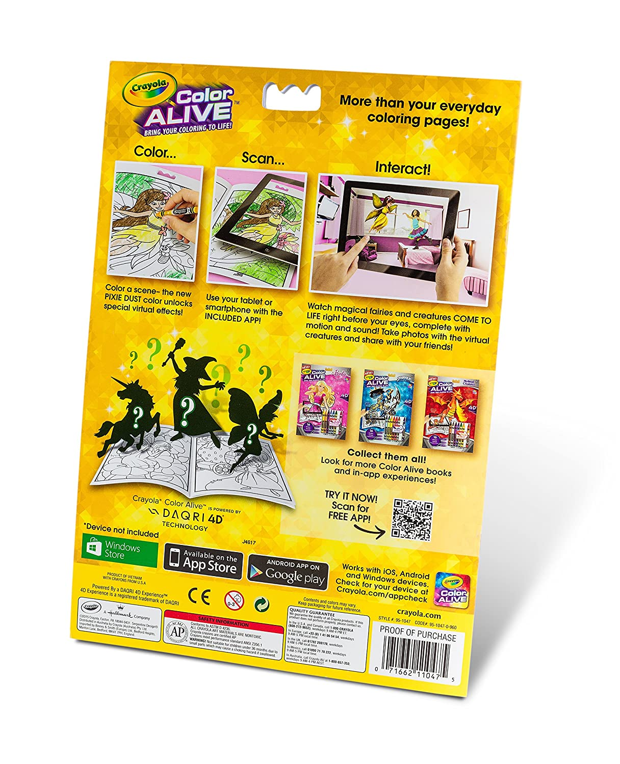 amazoncom crayola color alive action coloring pages enchanted forest toys games - Color Alive Coloring Book