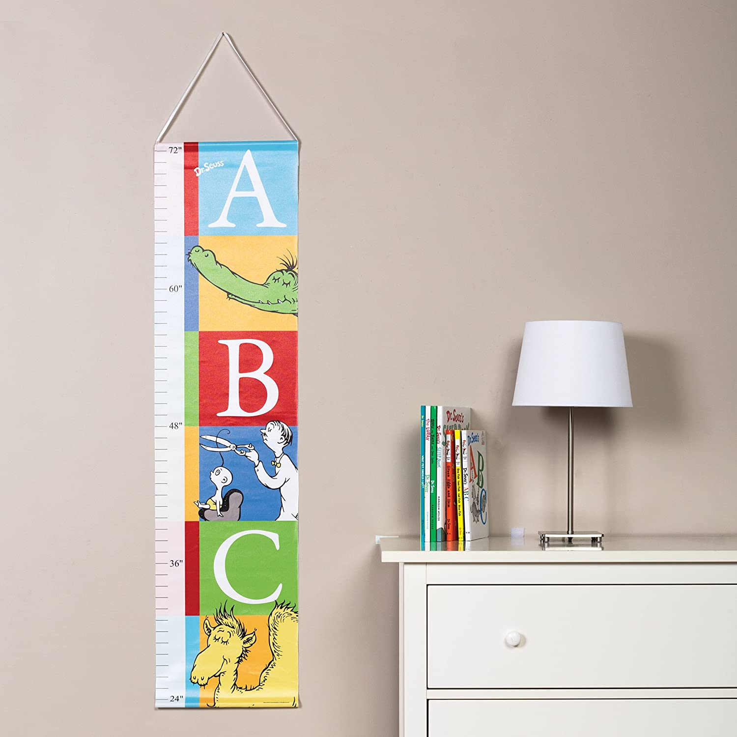 Trend Lab Dr Seuss Alphabet Canvas Growth Chart Blue//Green//Red//White 30164