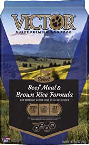 VICTOR Select - Beef Meal & Brown Rice Formula, Dry Dog Food 40 lbs