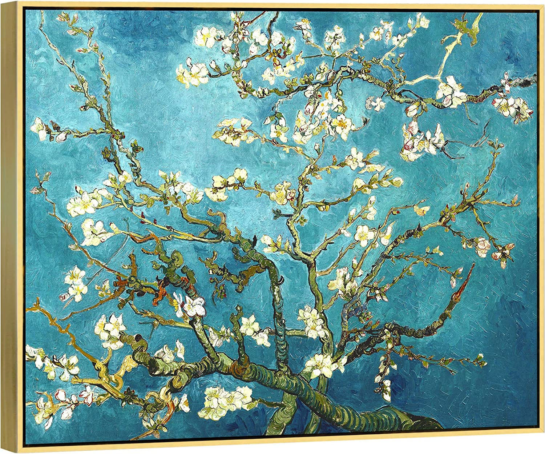 24x32inch azul Wieco Art Gicl/ée Impresi/ón de Lienzo de Van Gogh pinturas al /óleo de almendro en flor moderna lienzo para decoraci/ón de la pared y decoraci/ón para el hogar