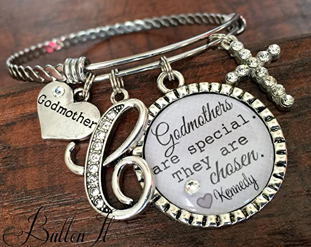 dp the amazon goddaughter charm and expandable love godmother forever is between a bracelet silver gift com