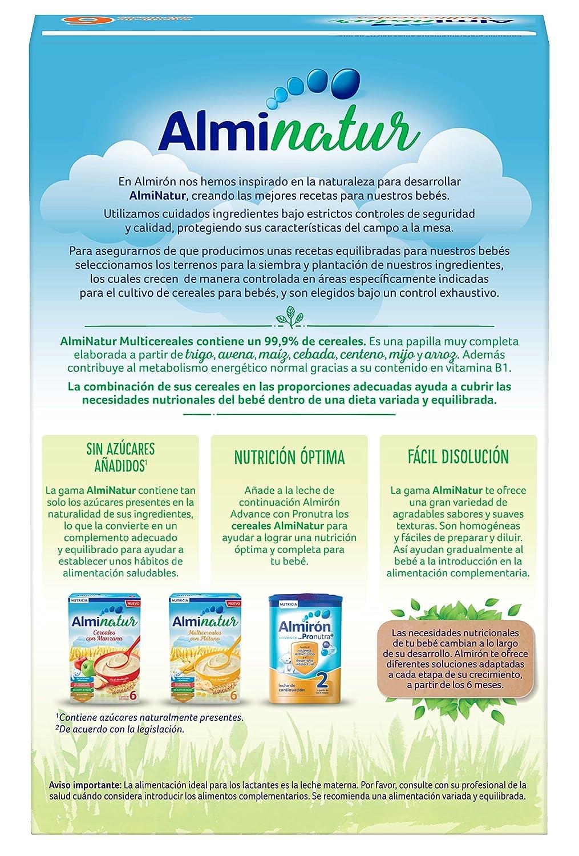 Alminatur Papilla de multicereales a partir de los 6 meses - Paquete de 5 x 250 gr - Total: 1.25 kg: Amazon.es: Alimentación y bebidas