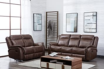 Terrific The Sofa And Bed Factory New Hartfordshire Leather Reclining Sofa Set 3 2 Recliner Suite Tan Squirreltailoven Fun Painted Chair Ideas Images Squirreltailovenorg
