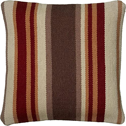 Rizzy Home T05985 Decorative Pillow, 18 X18 , Brown Orange Neutral