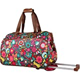 4c14c95a17e9 Lily Bloom Luggage Designer Pattern Suitcase Wheeled Duffel Carry On Bag  (14in