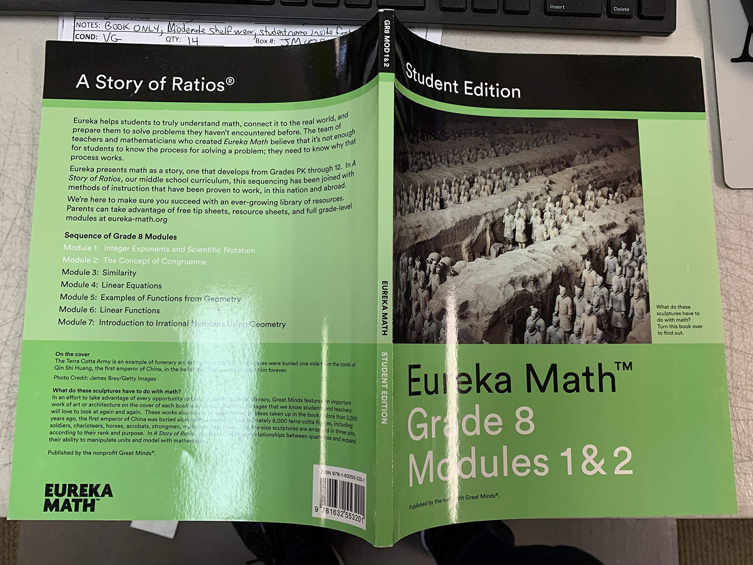 Eureka Math Grade 8 Modules 1 & 2 Integer Exponents and