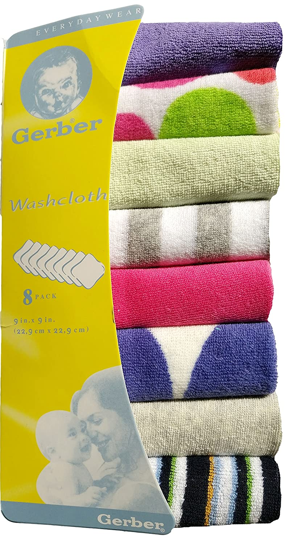 8x baby kids soft wash cloth bath feeding towel flannel wipe mixed colours Baby World
