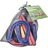 Complete Outdoor Horseshoe Set with Horse Shoes and Targets - By Trademark Innovations
