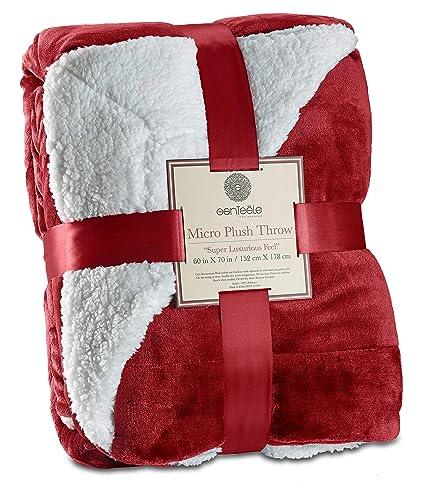 Amazon.com  Genteele Super Soft Luxurious Sherpa Throw Blanket e0cabccd4
