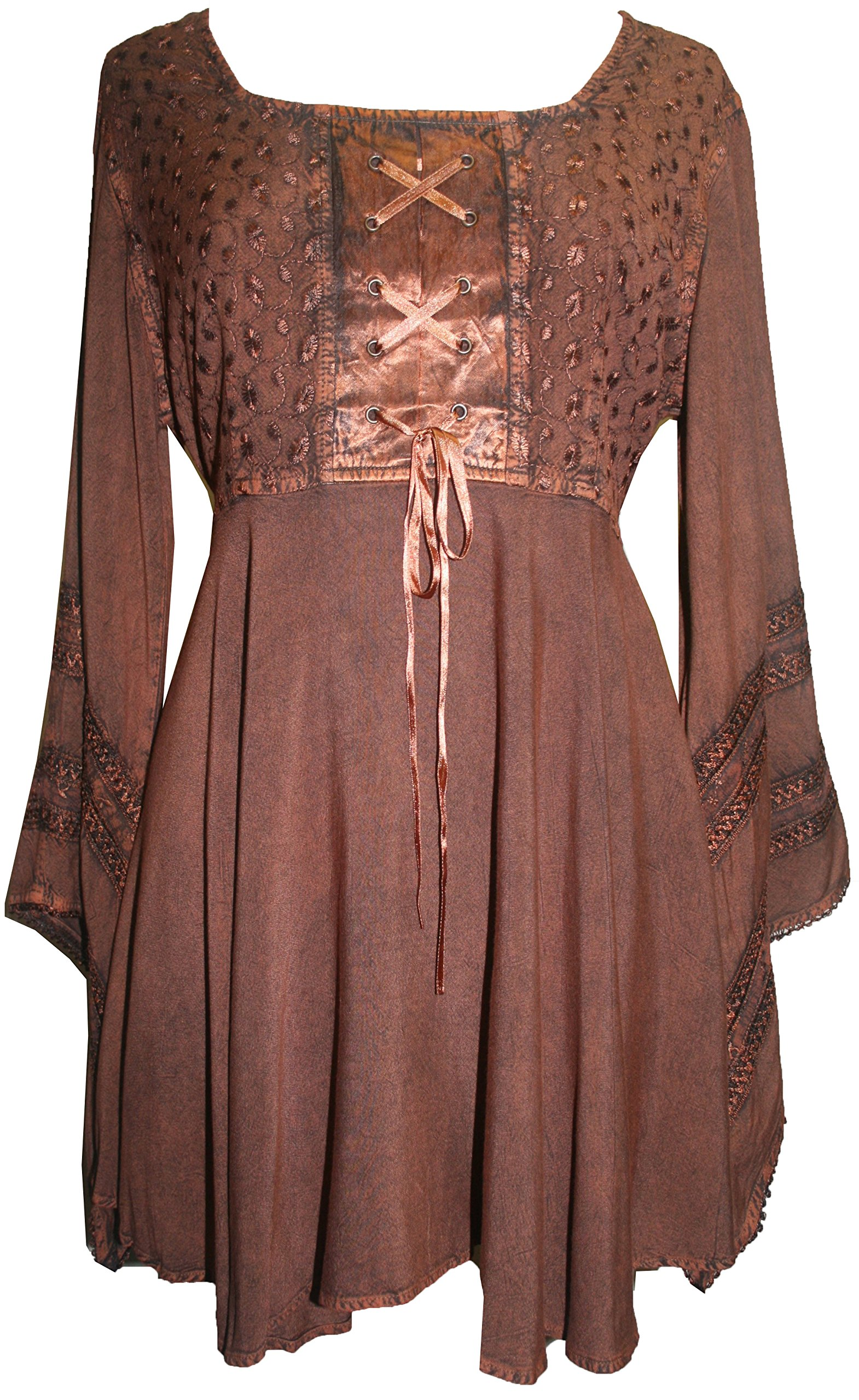 ee01ab3ade Agan Traders 11 B Gypsy Medieval Stylish Sexy Top Blouse (M