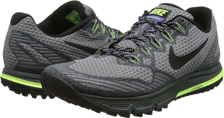 Nike Air Zoom Wildhorse 3, Zapatillas de Running para Hombre, Gris/Negro/Verde (Cool Grey/Blk-Anthrct-PRSN Vlt), 43 EU: Amazon.es: Zapatos y complementos