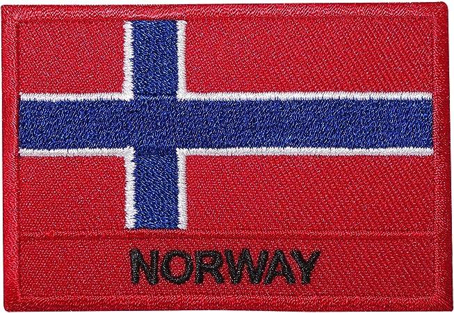 Parche bordado de la bandera de Noruega para planchar o coser en la camisa noruega