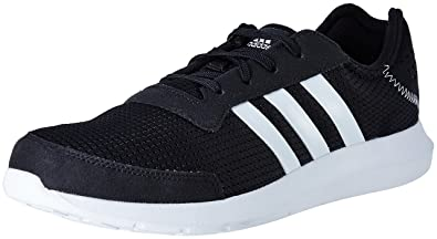 adidas Men's Element Refresh M Cblack, Ftwwht and Cblack Running Shoes - 10  UK/
