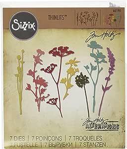 7//Pack Sizzix 661190 Wildflowers Thinlits Die Set by Tim Holtz