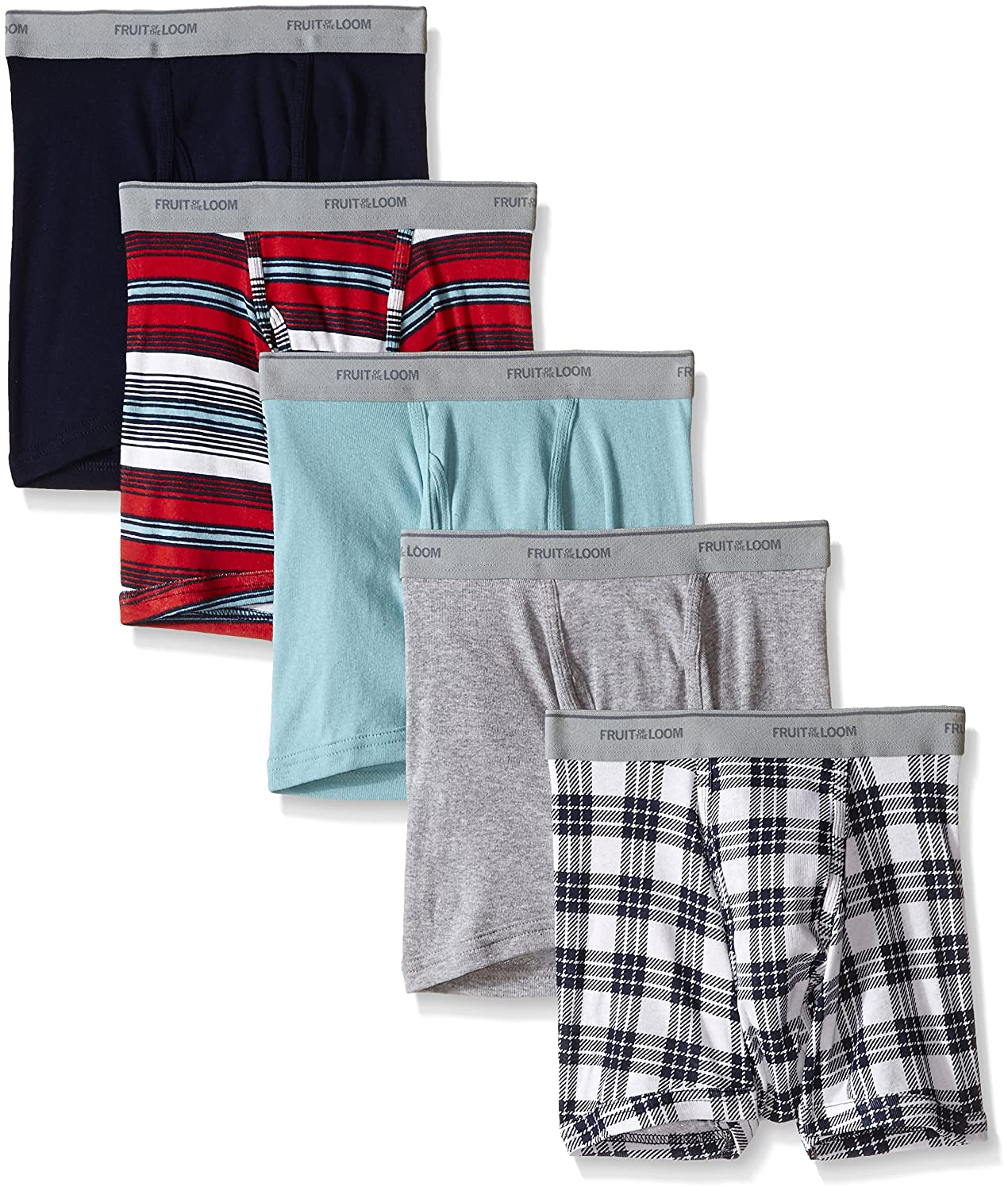 Fruit of the Loom Mens Short Leg Boxer Brief Pack of 5