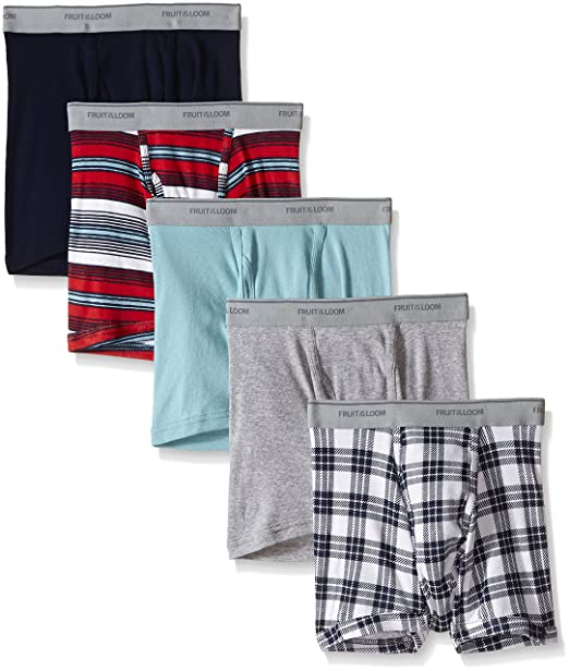 3e45b34622f4 Fruit of the Loom Men's Short Leg Boxer Brief (Pack of 5) at Amazon Men's  Clothing store: