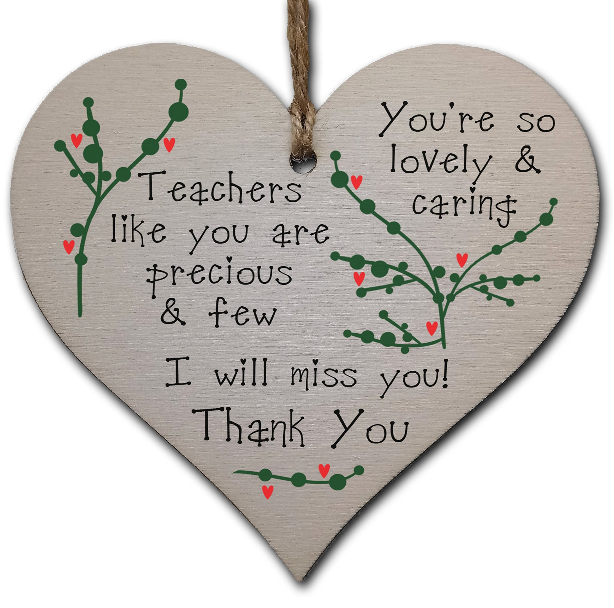 Handmade Wooden Hanging Heart Plaque Gift Thank you for being my friend cute