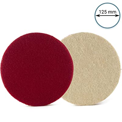 Glass Polish GP11033 Dense Felt Polishing Pad, Low and High Speed Buffing Wheel/Ø 5 inch: Automotive