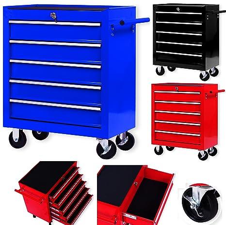 Masko® - Carro de taller con ruedas, carro de herramientas, caja de herramientas
