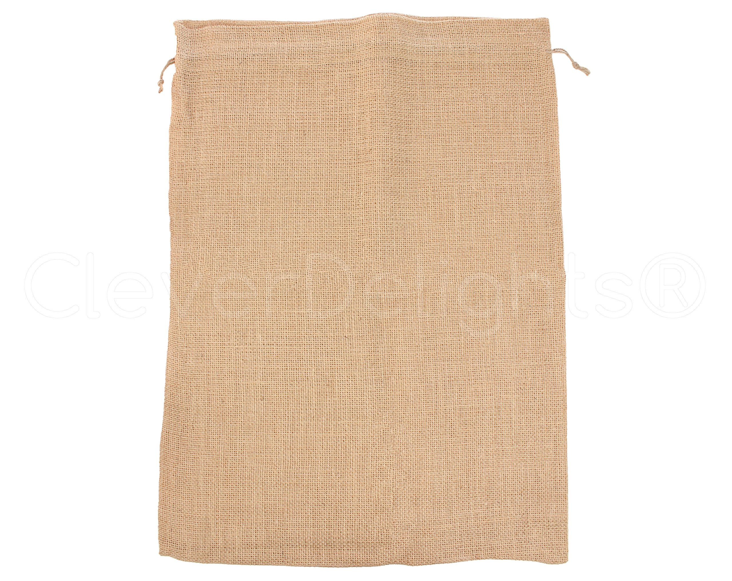 CleverDelights 18'' x 24'' Burlap Bags with Natural Jute Drawstring - 20 Pack - Large Burlap Pouch Gunny Sack Bag - 18x24 inch by CleverDelights (Image #1)
