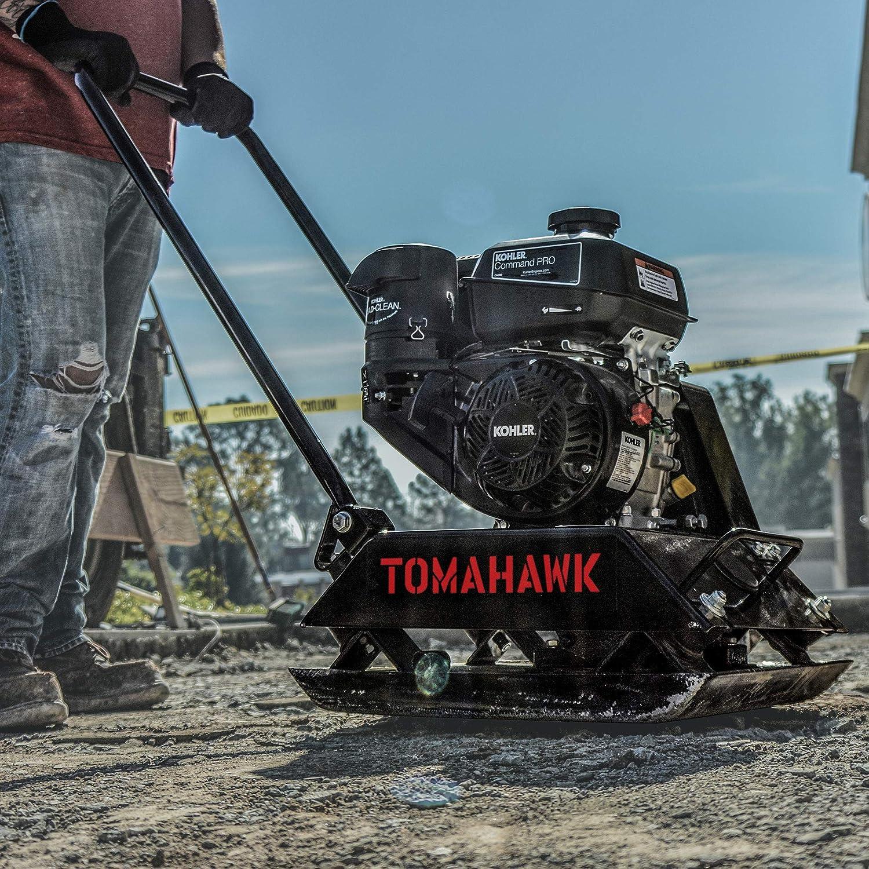 TOMAHAWK Vibratory Plate Compactor Tamper for Dirt Asphalt Gravel Soil Compaction with Kohler Engine