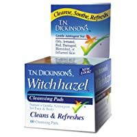 Witch Hazel Cleansing Pads de TN Dickinson, 60 Pads - Dickinson marcas