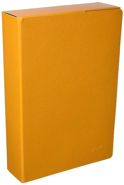 Mariola 22072 - Caja proyectos armada cartón con gomas L70 mm, color amarillo