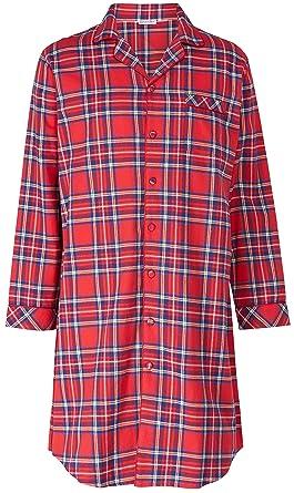 Mens Premium Luxury Check 100% Cotton Long Sleeve Button Collared Night  Shirt 834b1a1ca