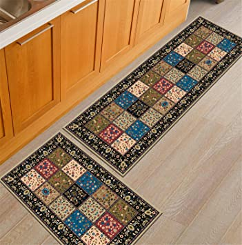Amazon Com Rubber Back Home And Kitchen Rugs Non Skid Slip