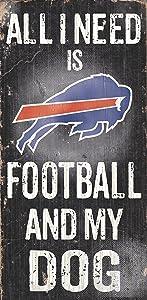 Fan Creations N0640 Buffalo Bills Football and My Dog Sign