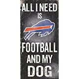 """Fan Creations NFL Football And My Dog Wood Sign 6"""" x 12"""""""