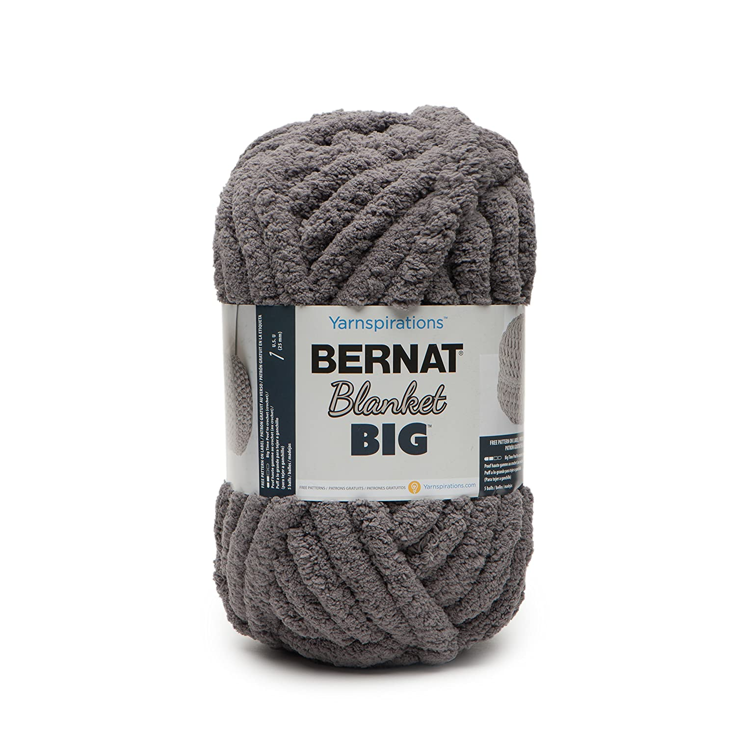 BERNAT BLANKET BIG -300G GREY: Amazon.co.uk: Kitchen & Home