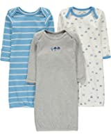 Wan-A-Beez Baby Boys' and Girls' 3 Pack Printed Gowns