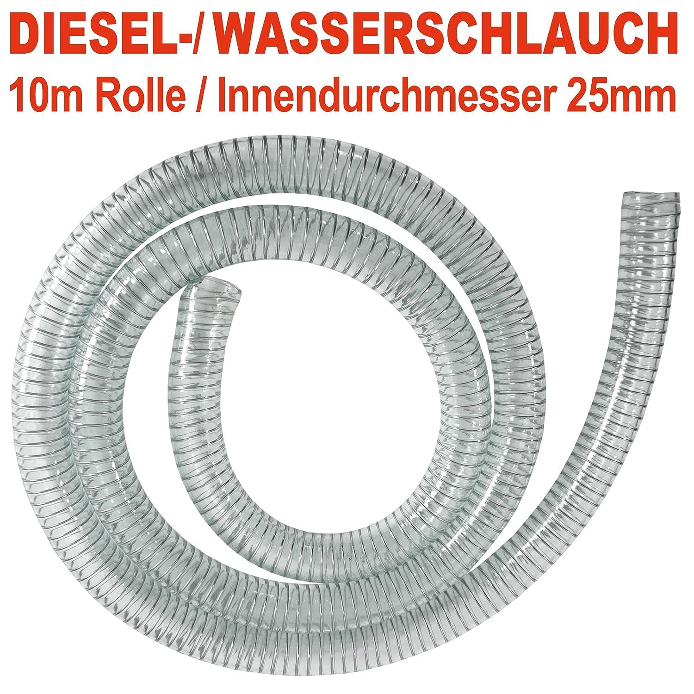 df4f73ff59c4f4 Pompe à diesel Pumps chlauch Kit d aspiration 25 mm Unité d aspiration pour  pompes diesel avec clapet anti-retour en laiton, spiralve rstärkter Pompe à  ...