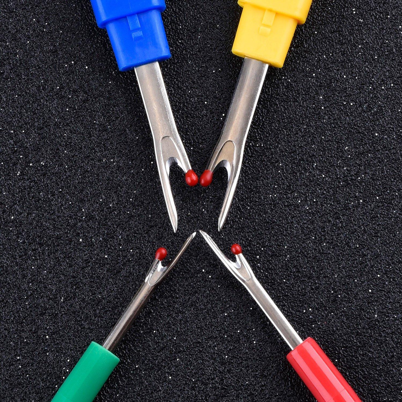 4 St/ück Bunte Nahttrenner Kunststoffgriff N/ähen Stich Thread Unpicker N/ähwerkzeug