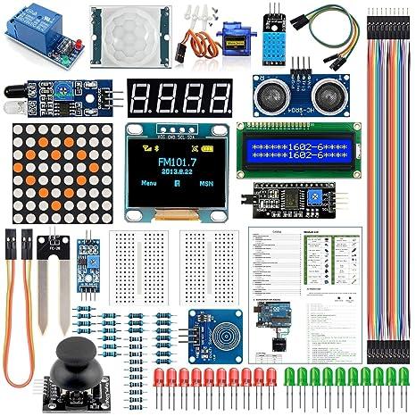 Arduino Kit de módulo de sensor con pantalla LCD OLED 1602 de 0,96 ...