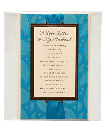 Amazon.com : Sentimental Love Letter Father\'s Day Card for Husband ...