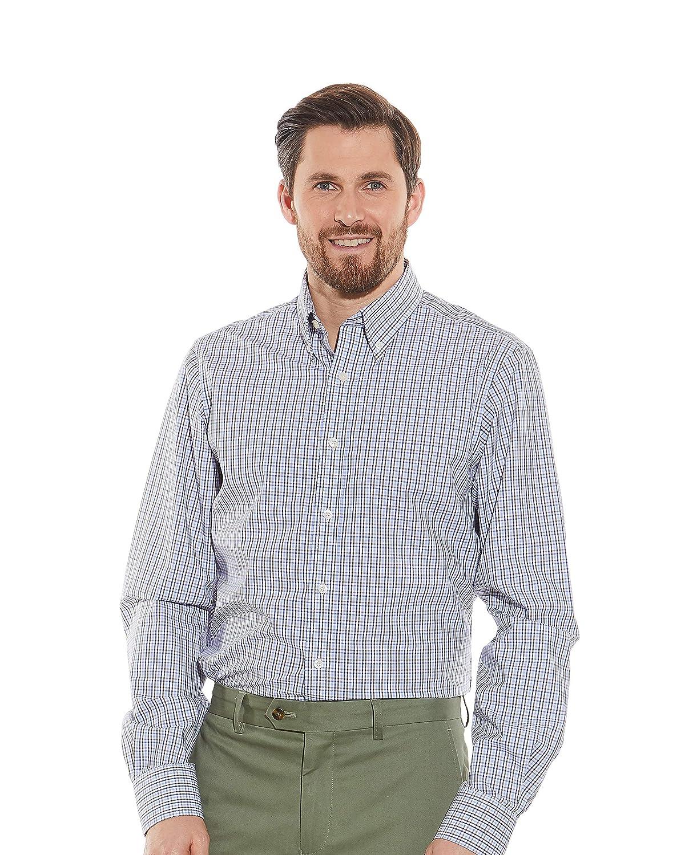 Savile Row Mens Casual Long Sleeve Shirt Slim Fit Button-Down Collar
