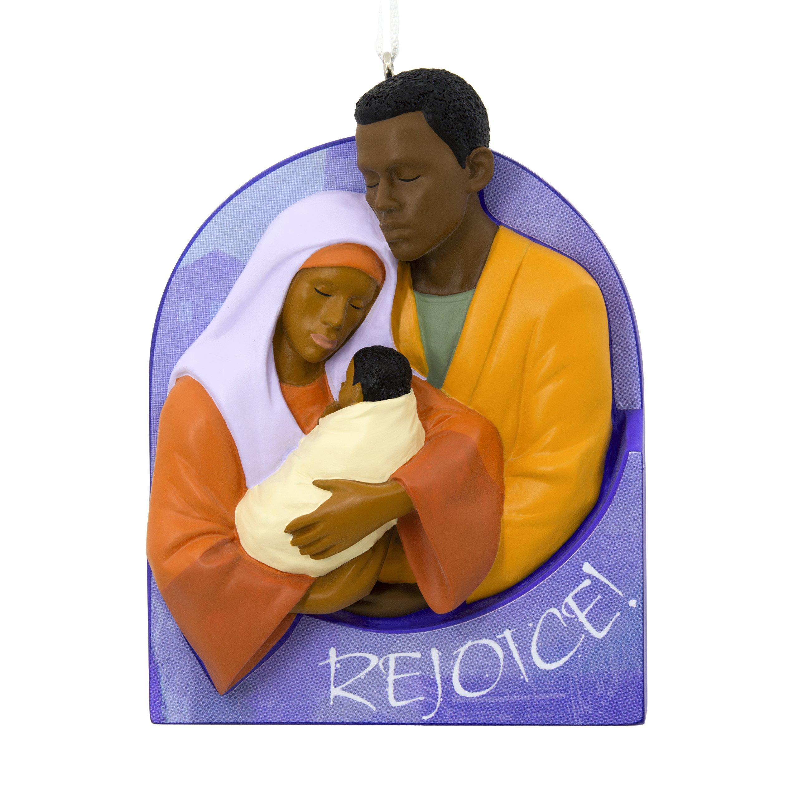 Hallmark Mahogany Christmas Ornament Rejoice Nativity