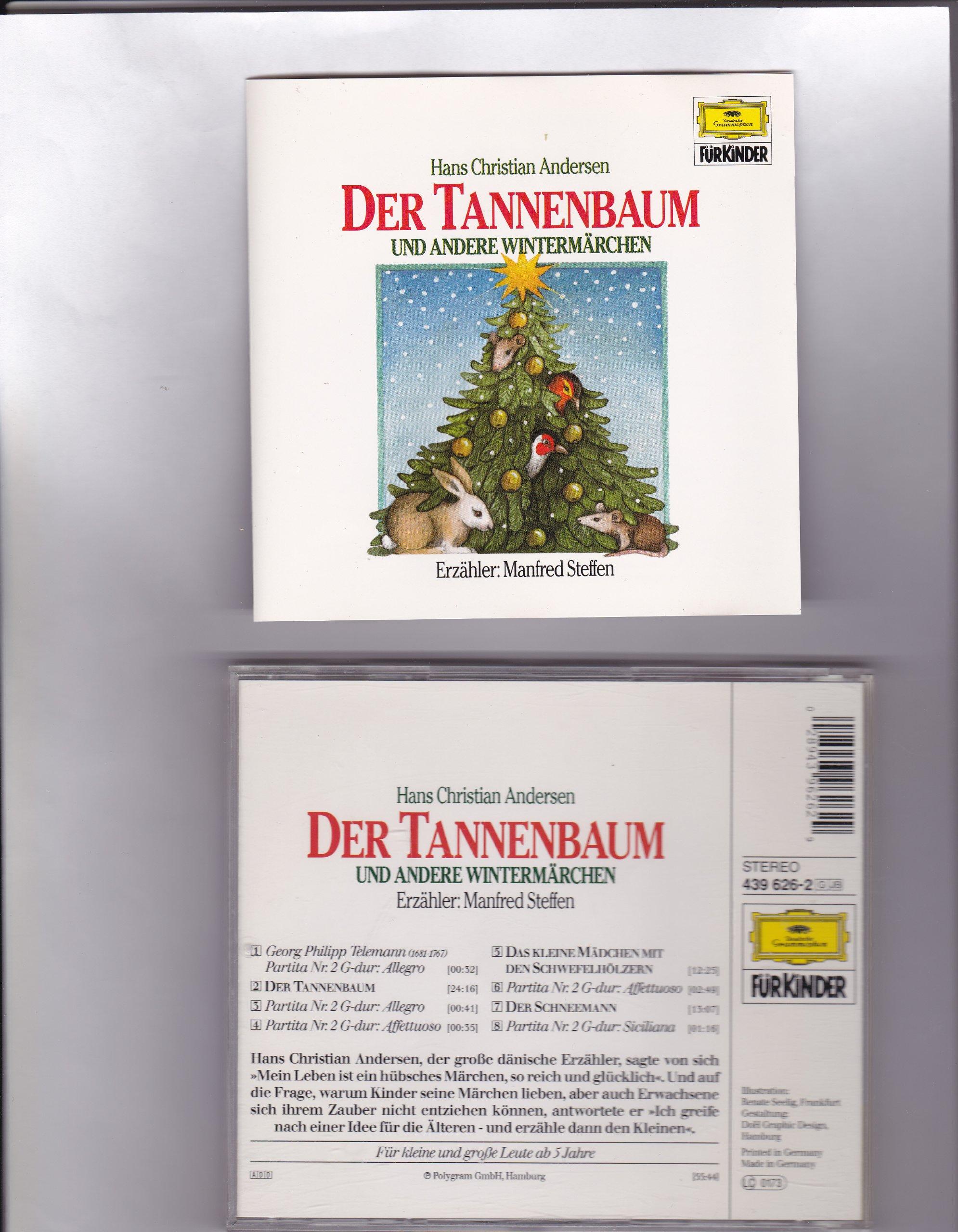 Märchen Von Hans Christian Andersen Der Tannenbaum.Der Tannenbaum Und Andere Weihnachtsgeschichten Amazon De Hans Ch
