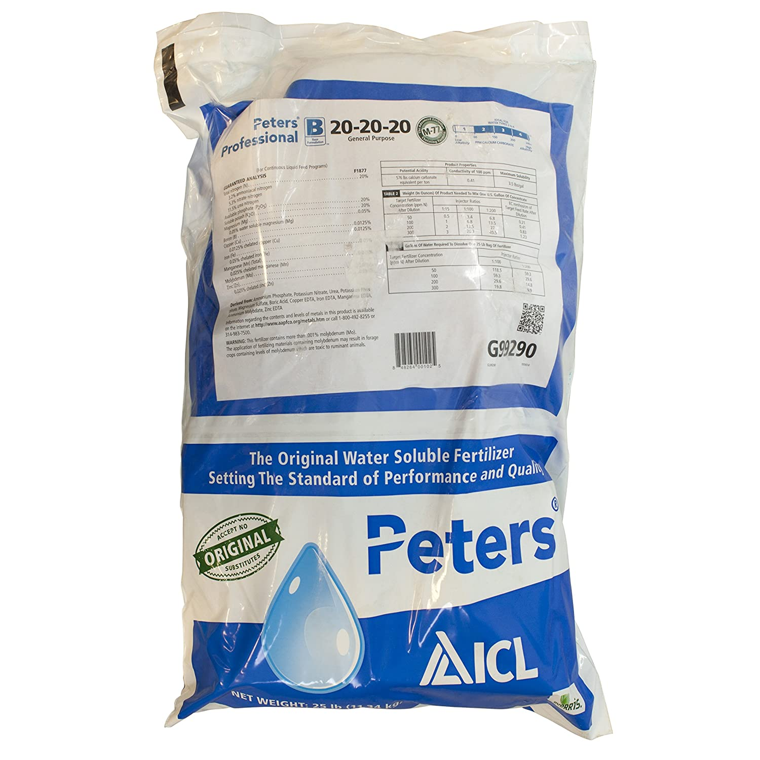 Jacks Prof 77010 General Purpose Fertilizer, 20-20-20 Fertilizer, 25-Pound
