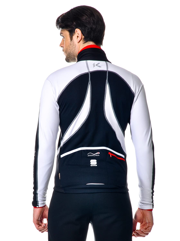 Sportful Chaqueta Ciclismo Anakonda Blanco/Negro XL: Amazon ...