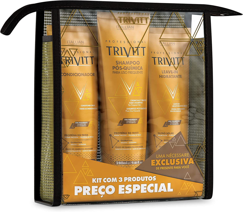 Banner Manutenção Trivitt (home-Care) - contendo Shampoo Pós-Química para uso frequente + Condicionador Trivitt + Hidratação Intensiva