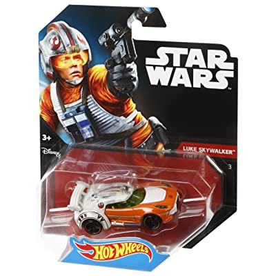 Hot Wheels Star Wars Luke Skywalker Character Car: Toys & Games