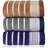 Rangoli Rigatta 450 GSM Cotton Hand Towel Set Of 3 Pcs. (Colour may vary)