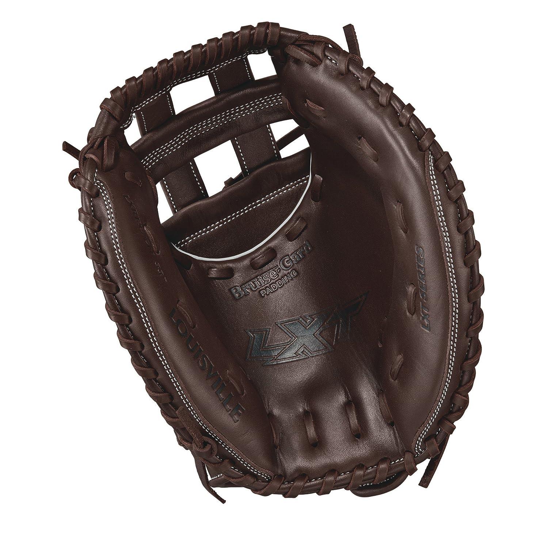 Louisville Slugger LXT 33 Inch WTLLXRF17CM Fastpitch Softball Catchers Mitt Left Hand 33 Dark Brown//White Wilson Sporting Goods