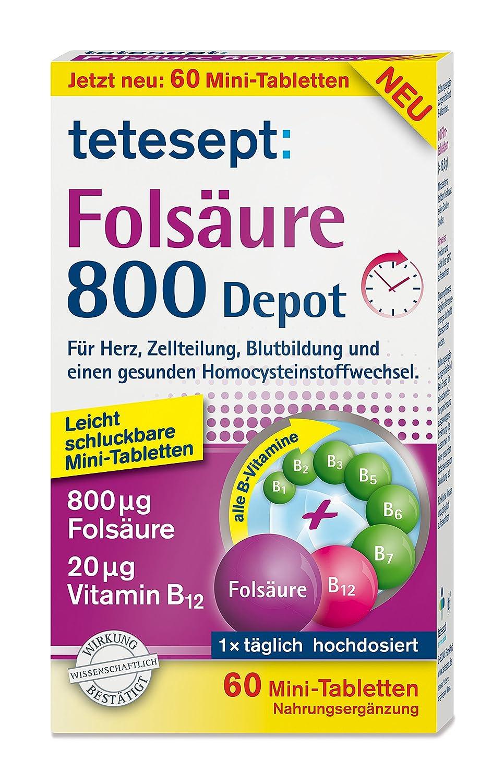 Tetesept Folsäure Tabletten 800 Depot im Test