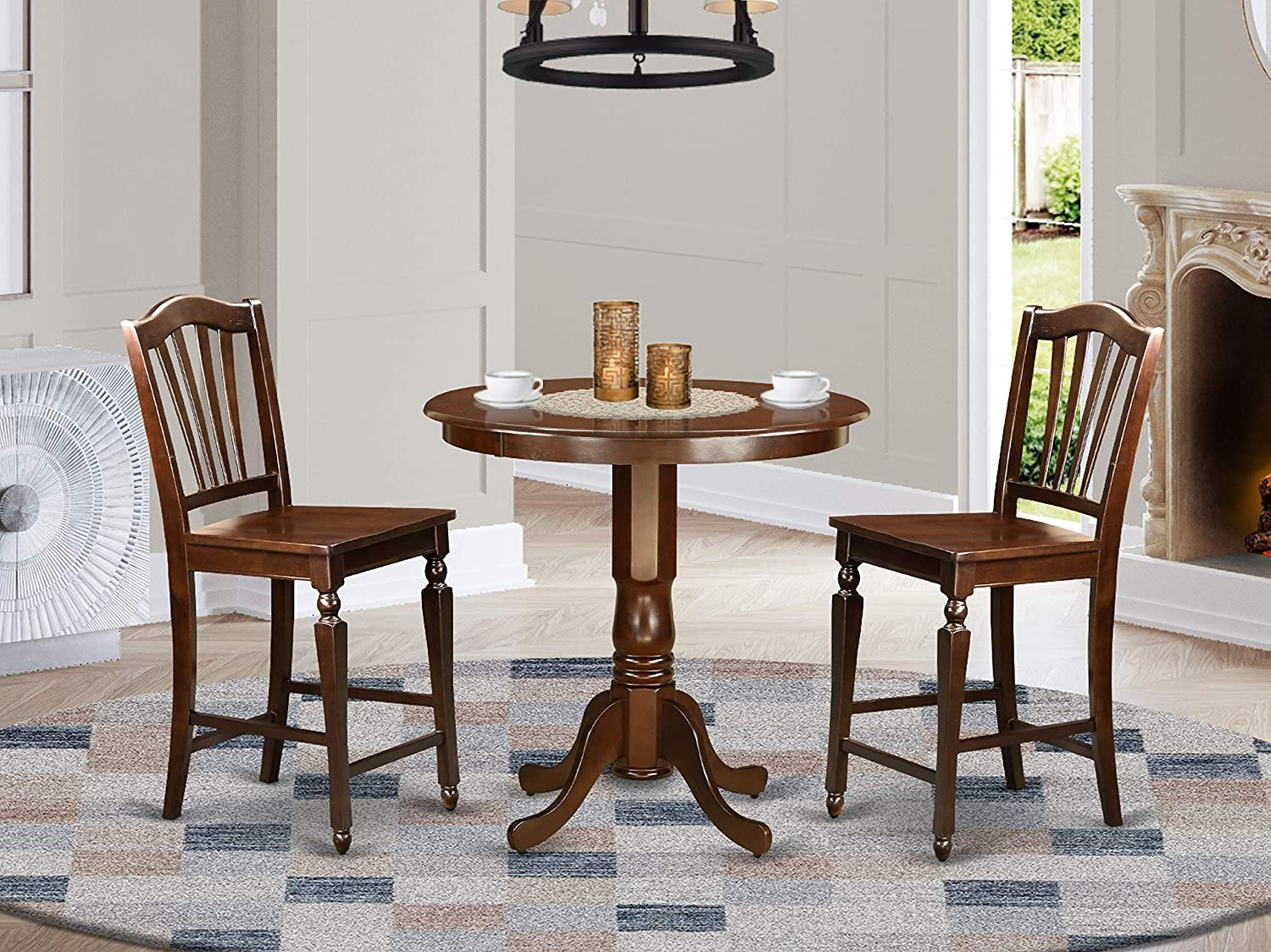 3 PC counter height set-pub Table and 2 counter height Dining chair